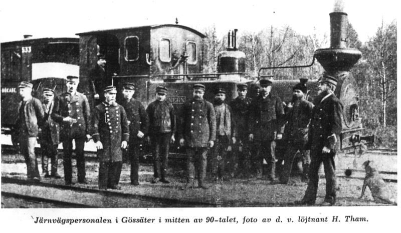 Järnvägen i Gössäter 1890-talet
