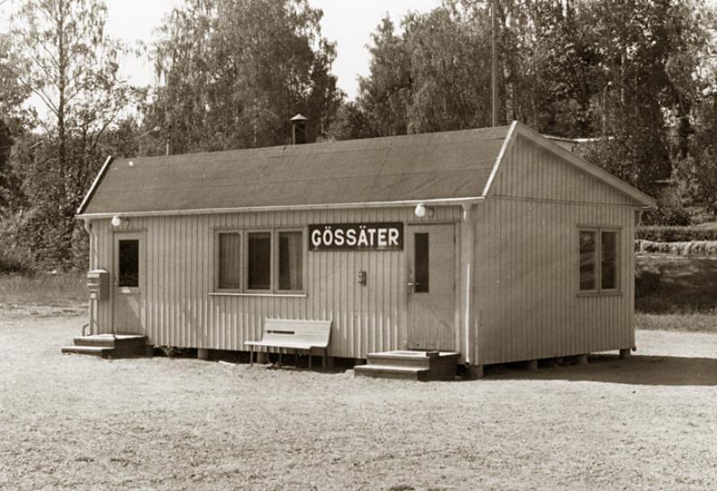 Järnvägsstationen Gössäter: foto: 1969