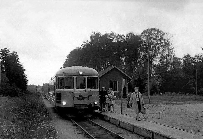 Järnvägsstationen Gössäter, foto: 1960-talet