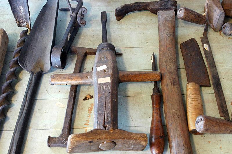 Stenmuseet, verktyg, foto: Freddie Wendin 2012