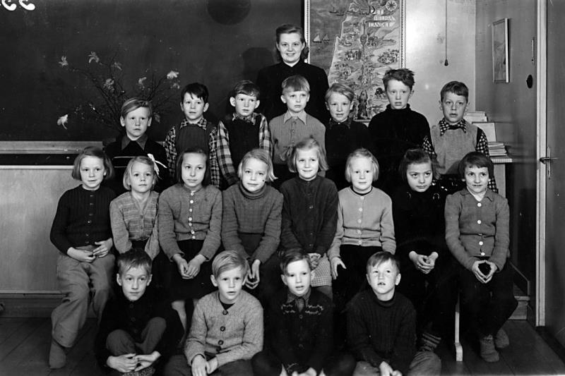 Bild 2489 Annexet - Småskolan Västerplana, 1955