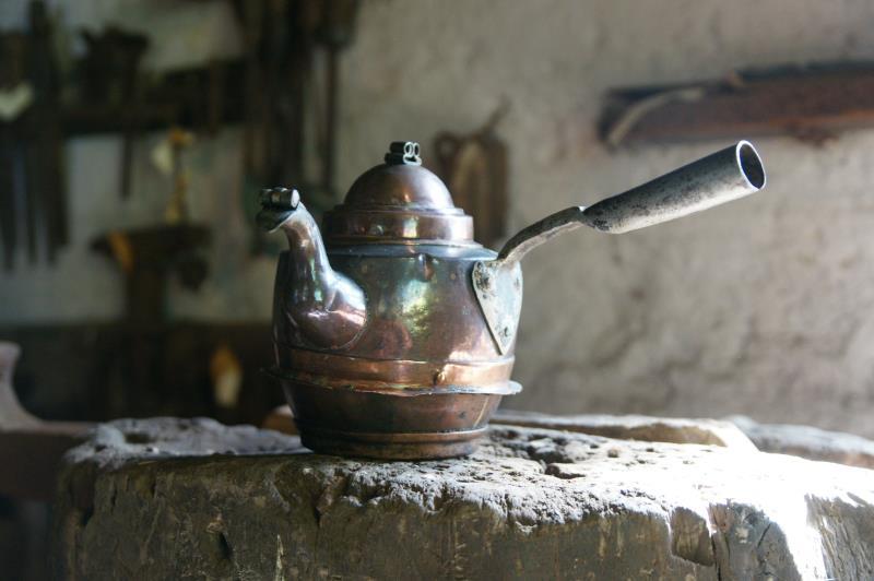 Kaffekannor, Eskilssons kopparsmedja. foto: Freddie Wendin 2006