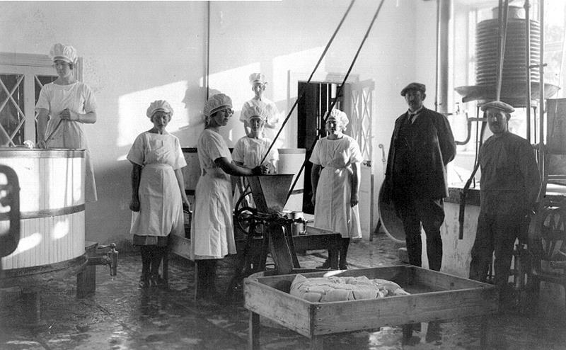 Bild 1046 Mejeriet i Råbäck, foto: 1930-talet
