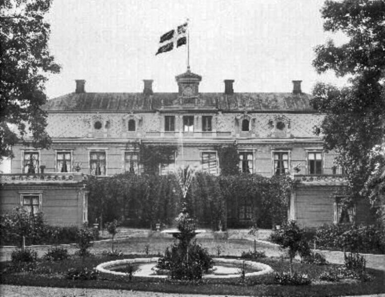 Bild 5440 Råbäcks slott, Medelplana foto: 1900
