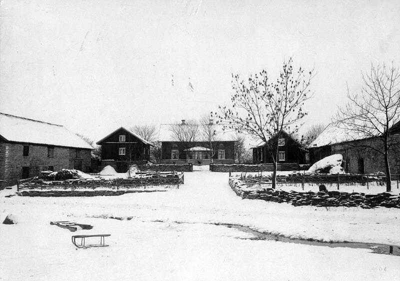 Bild 3746 Stenhuggaregården i Västerplana Foto W. Lindhe 1904
