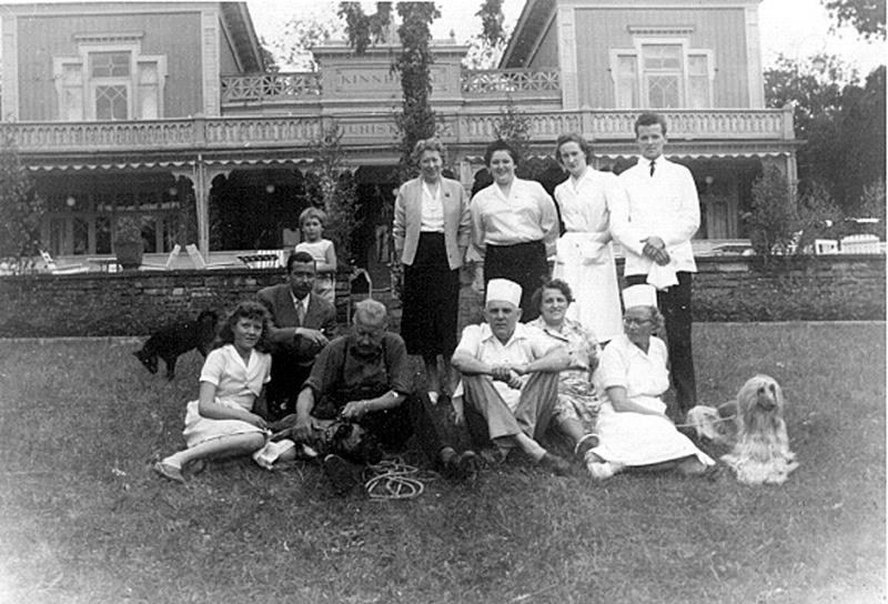 Bild 0049 Personal sommaren 1955 Turishotellet Råbäck
