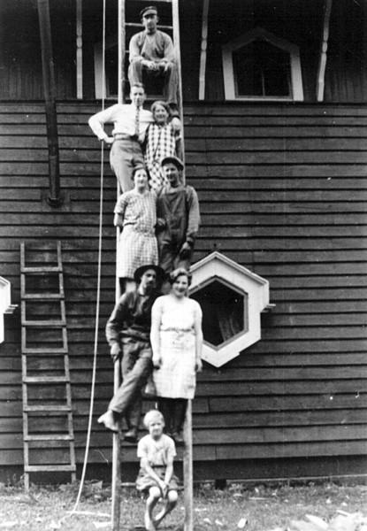 Bild 1119 Utsiktstornet Kinnekulle Medelplana 1928