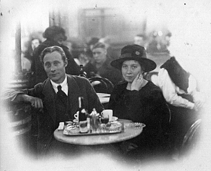 Bild 1582 Turisthiotellet Råbäckj Gästande par