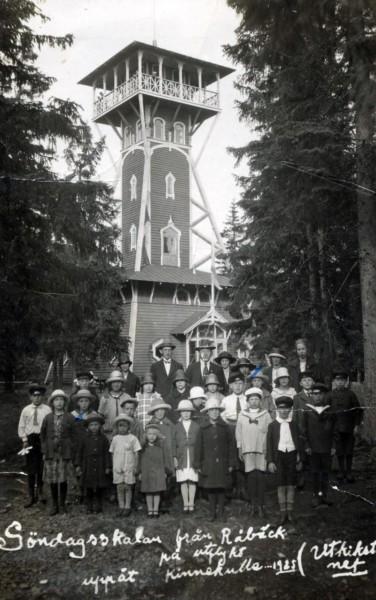 Bild 2354 Utsiktstornet Kinnekulle Medelplana 1925