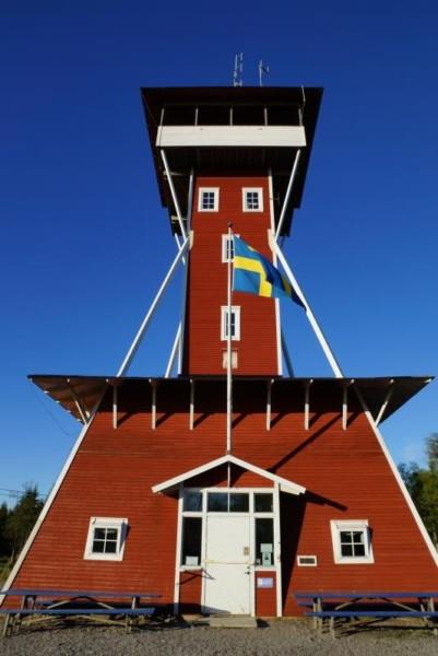 Utsiktstornet på Kinnekulle Medelplana. Foto Freddie Wendin 2008