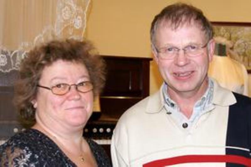 Torlagården Västerplana Kinnekulle Maj-Lis och Rune Larsson, foto: Freddie Wendin 2009