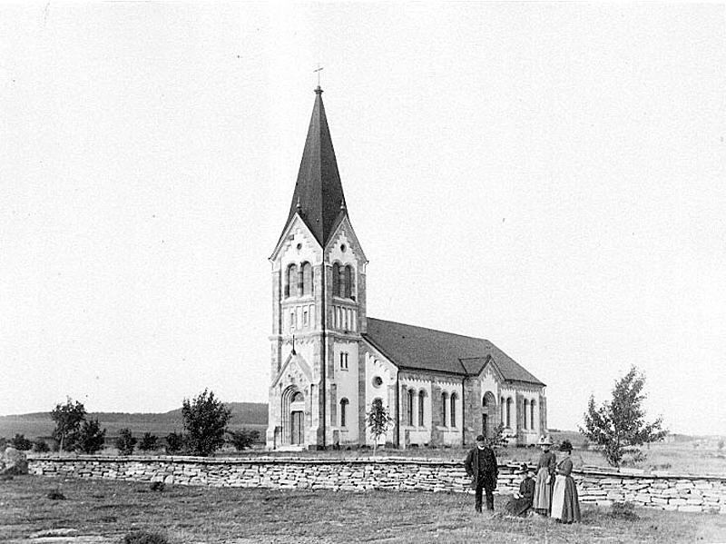 Bild 4636 Österplana Kyrka Österplana 1890