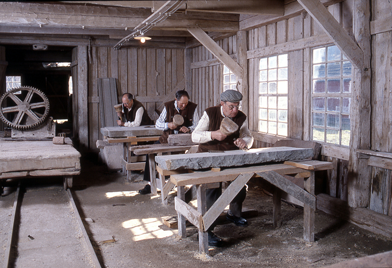 Bild 5751 Råbäcks stenhuggeri, foto: 1986