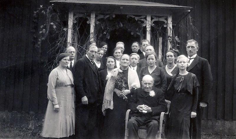 Bild 5803 Motorp Västerplana Bild tagen vid Anders Gustav och Hilda Mobergs guldbröllop 1933