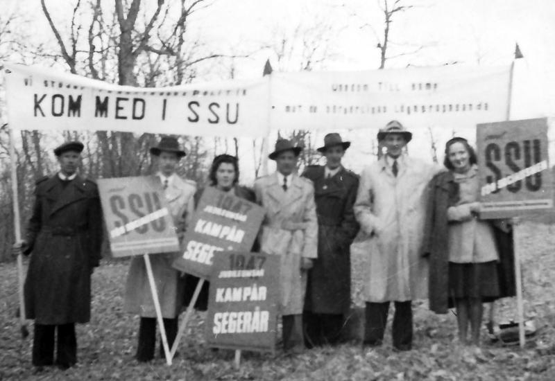 Bild 5418 Kinnekulle Soc. Dem. Förening Undens äng första maj SSU år 1947