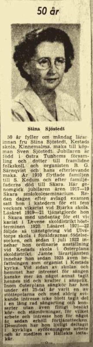 Kestad Stina Sjöstedt