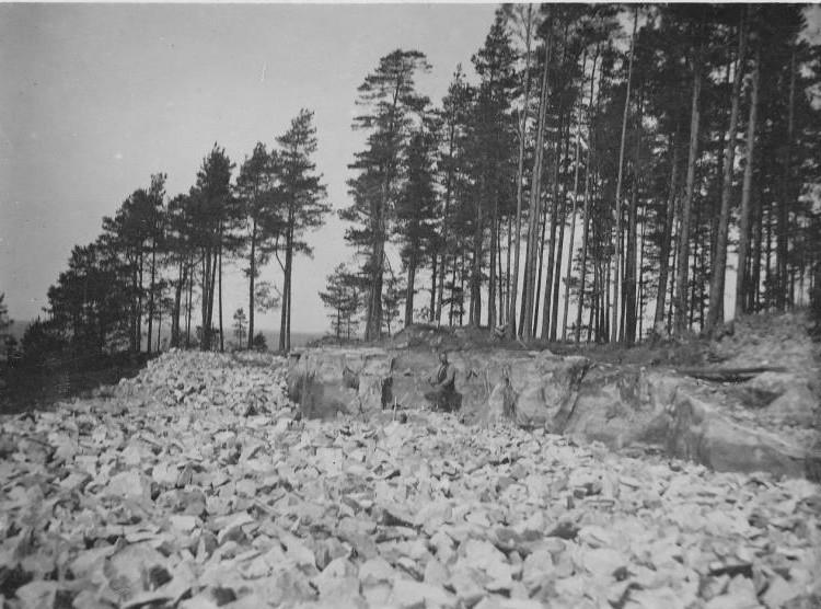 Bild989 Stenbrytning 12 Juni 1929 Hellekis Hamn