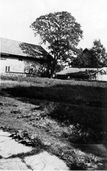 Bild 079 Medelplana, Uthus vid Hisingsgården, byggt i kalksten