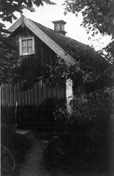 Bild 090 Österplana, Skagen, Törns stuga, enkel skorsten av kalksten, 1890-talet.