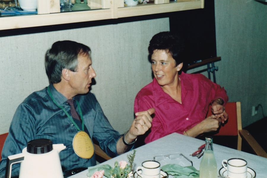 Bild6029 Hällekis IF Firar Nils Cardesjö 25 år som lagledare 1985